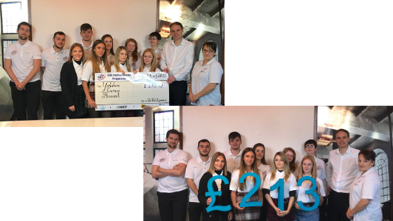 SGS Apprentices Raise £852 for Four Local Charities