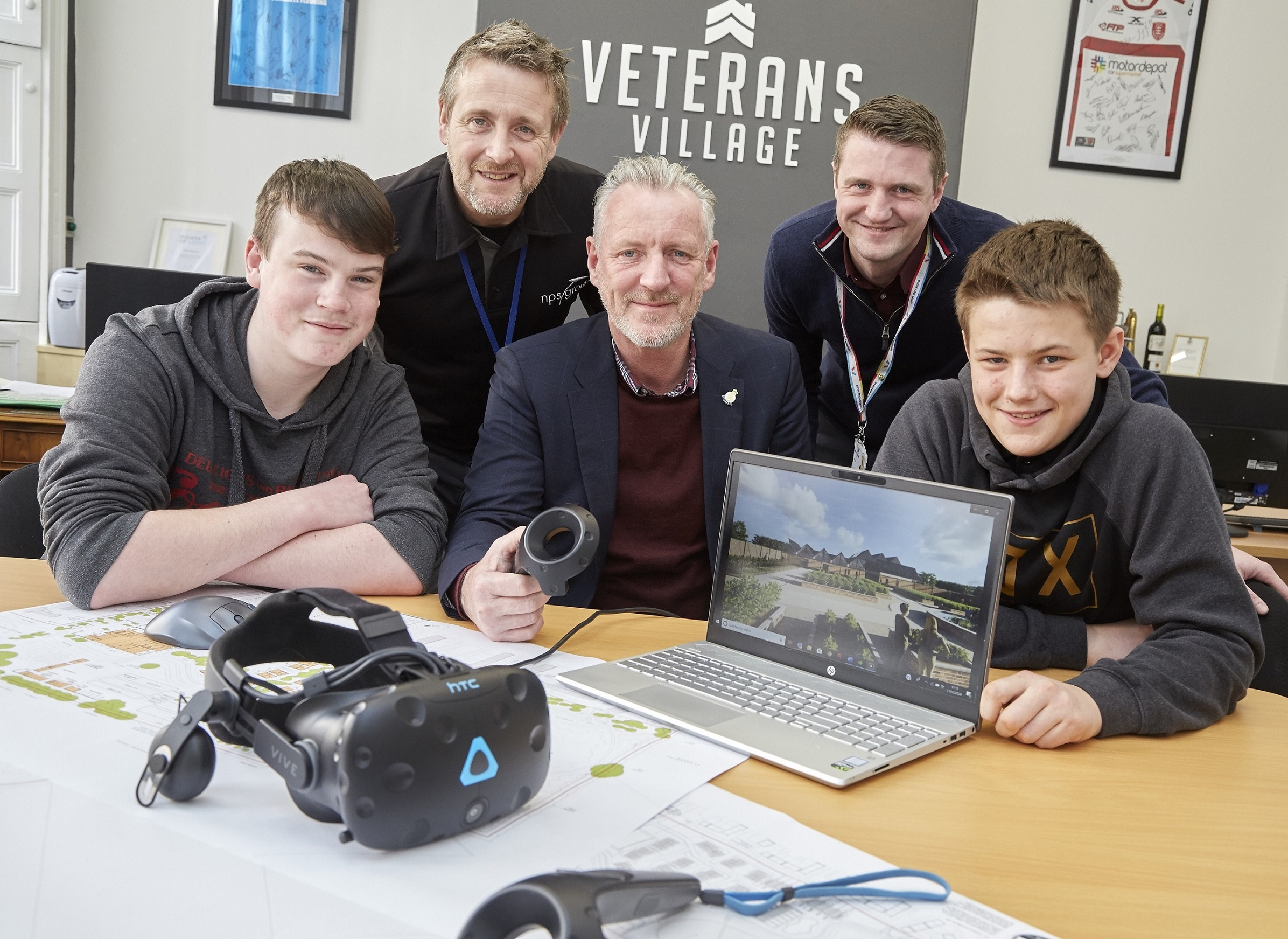 Students learn cutting-edge tech skills to bring Veterans Village to life