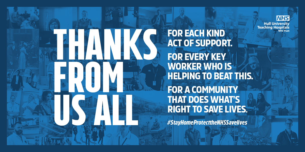 NHS staff to thank the public