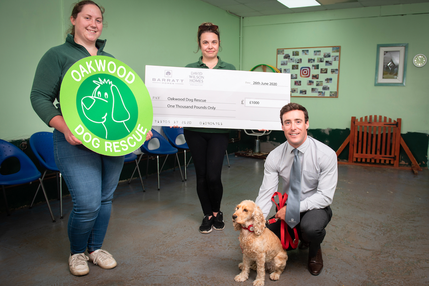 Local House Builder Donates £1,000 to Oakwood Dog Rescue, in Hull