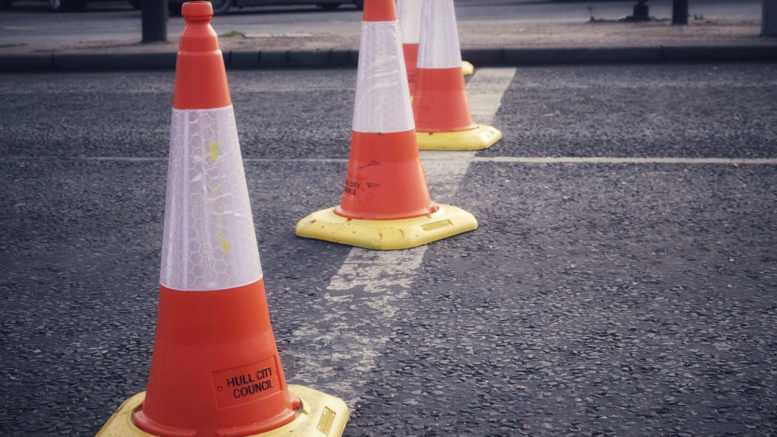 Urgent repair works in Anlaby Road