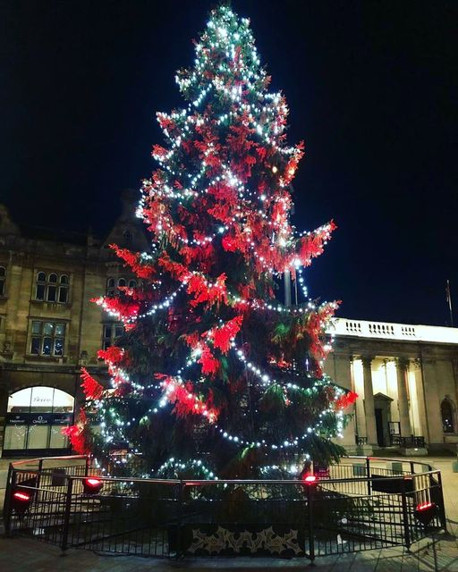 Hull city centre lit up ready for Christmas