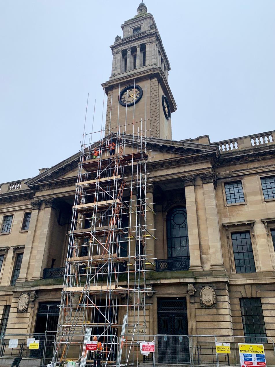 Guildhall Time Ball restoration works get underway