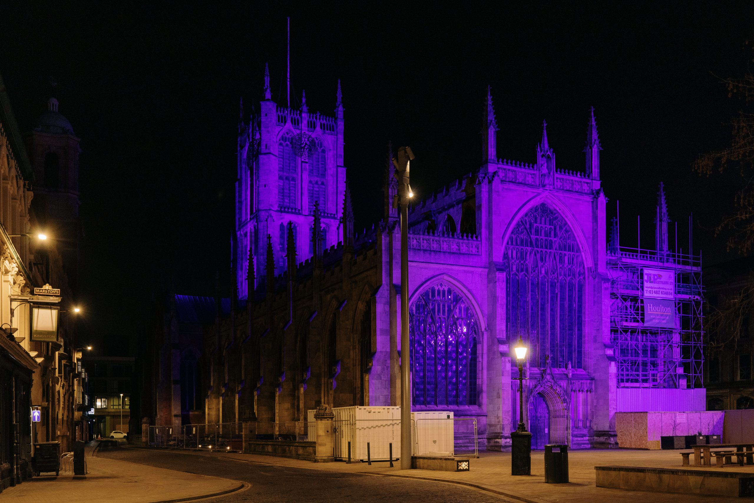 Read more about the article Hull city centre turned purple in celebration of Census 2021