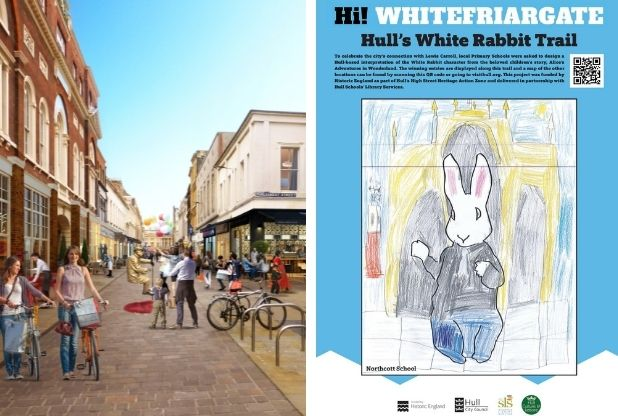 Follow the White Rabbit and discover Hull's Old Town wonderland
